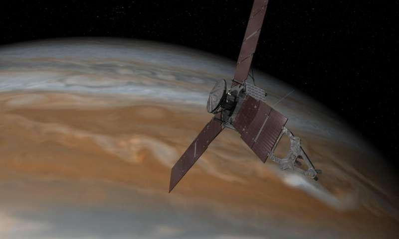 sКосмический аппарат Juno вошел взону воздействия Юпитера