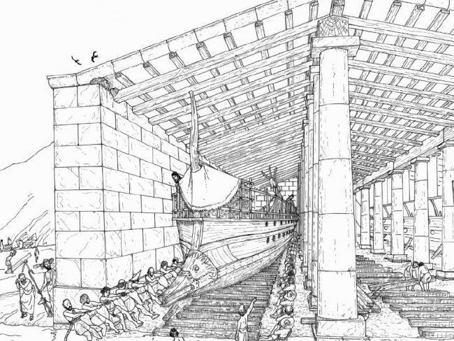 У берегов Афин найдена древняя подводная военная база