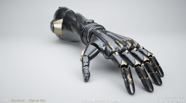 Сконструирована линейка бионических протезов по игре Deus Ex