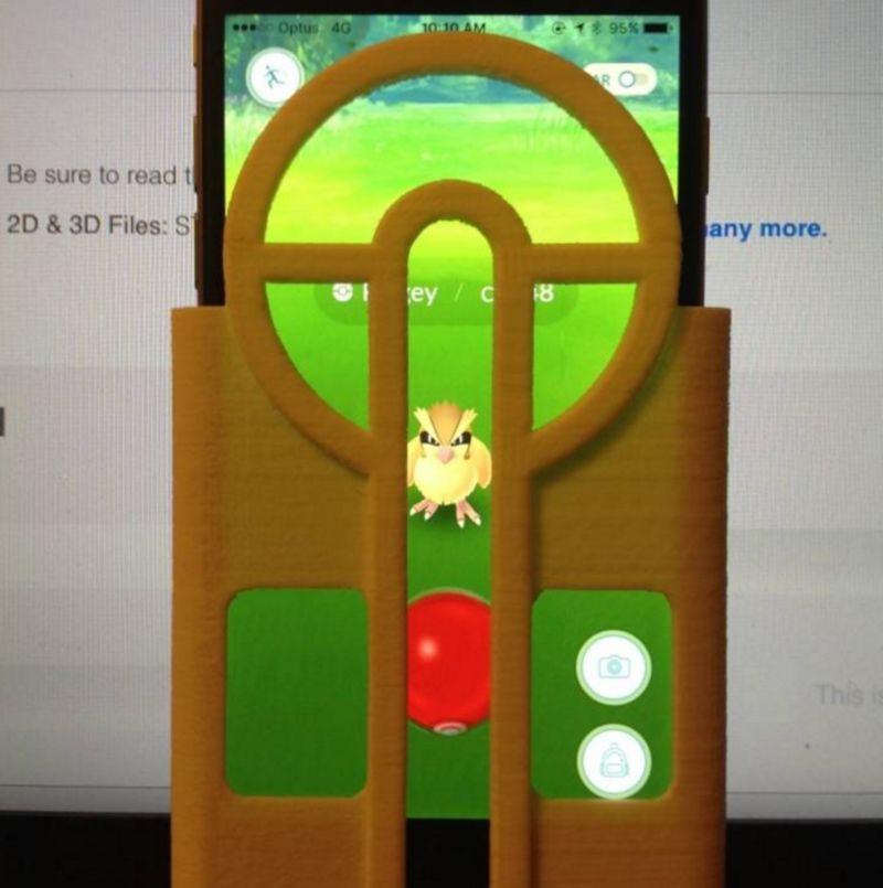 Для игры Pokemon Go создан прицел для более точной ловли покемонов