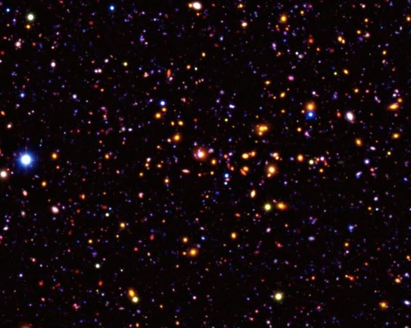 Астрономы нашли скопление древнейших галактик