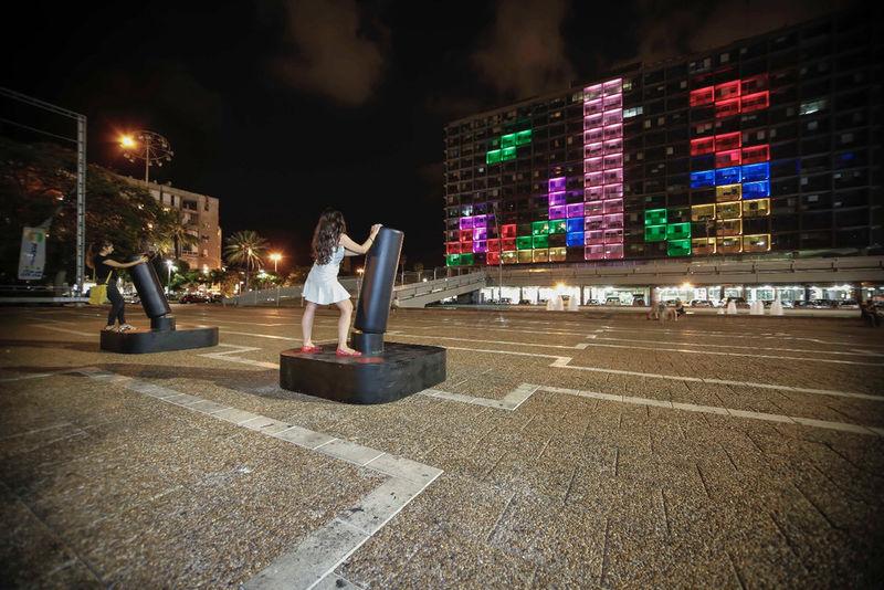 На мэрии Тель-Авива можно поиграть в игры