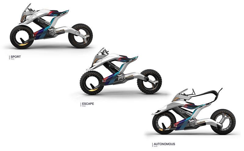 У BMW появилась концепция автономного мотоцикла
