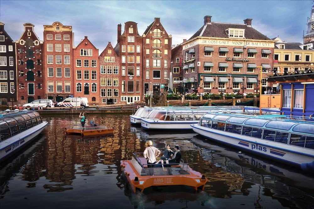 В Амстердаме появятся автономные лодки