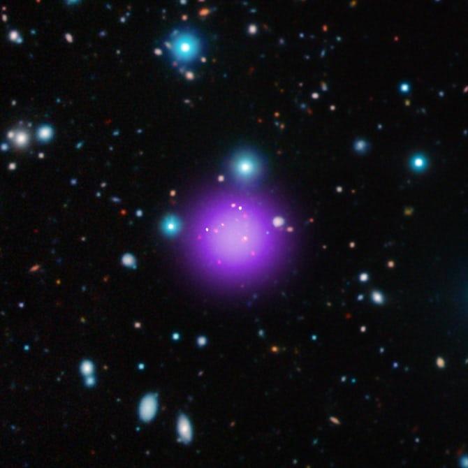 Ученые обнаружили самое далекое скопление галактик