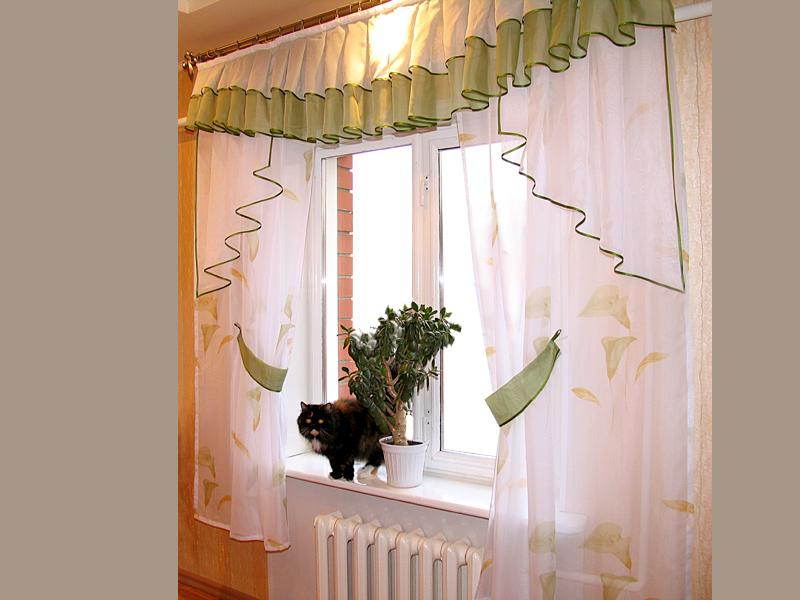 Дизайн своими руками шторы на кухню