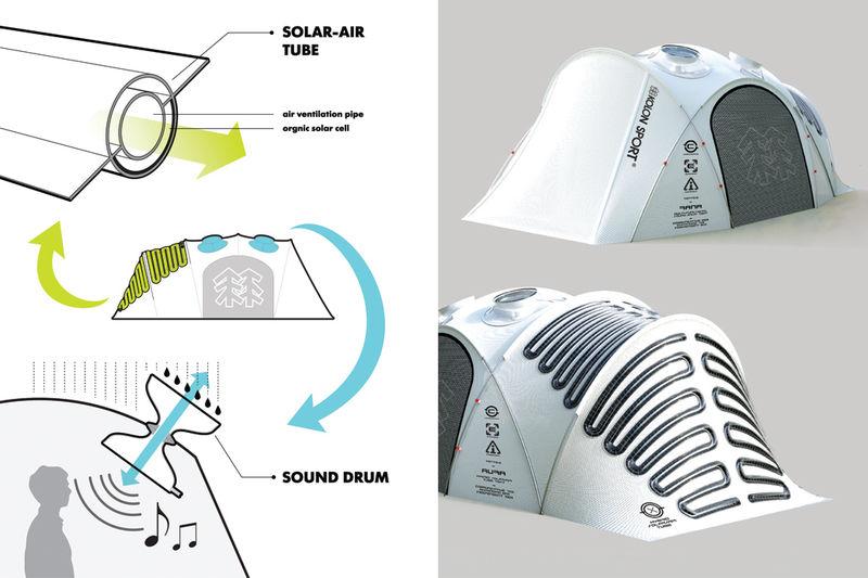 Создана палатка генерирующая энергию