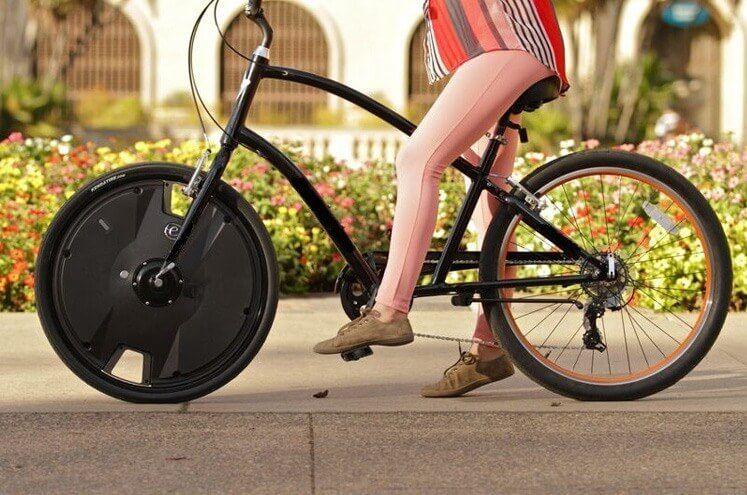 Создано колесо для превращения велосипеда в электровелик
