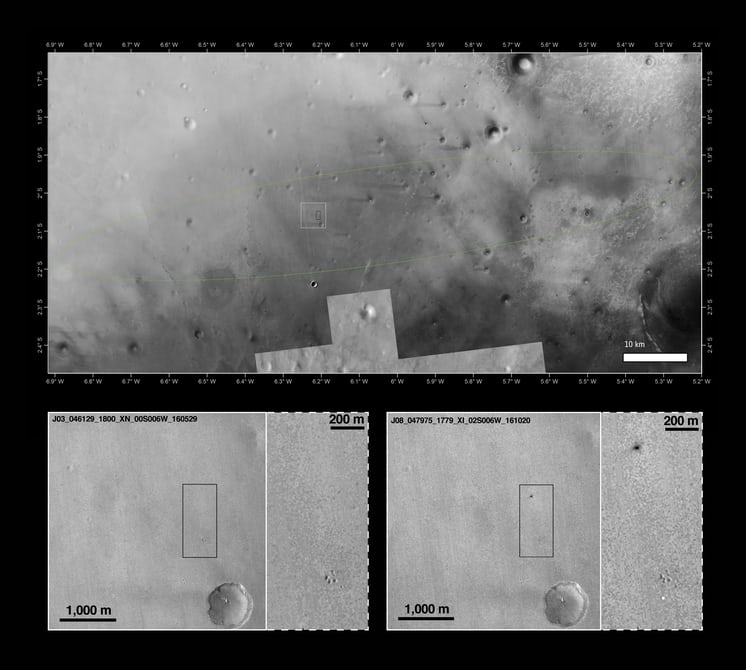Schiaparelli упал на Марс