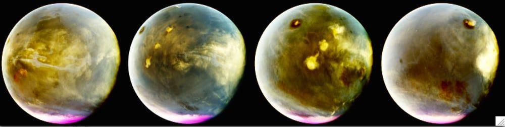 NASA выпустила шикарные снимки Марса в ультрафиолете