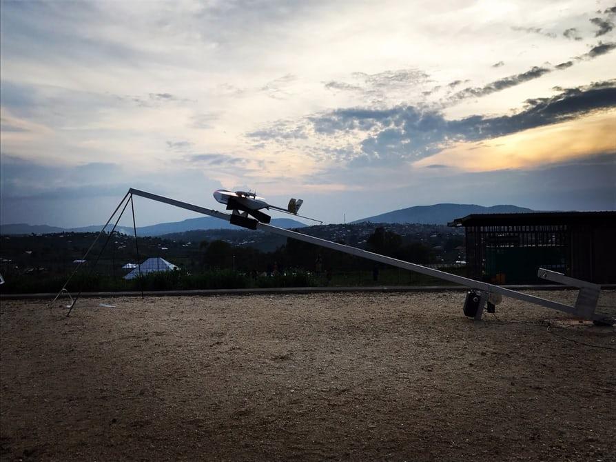 В Руанде открылась медицинская доставка беспилотниками