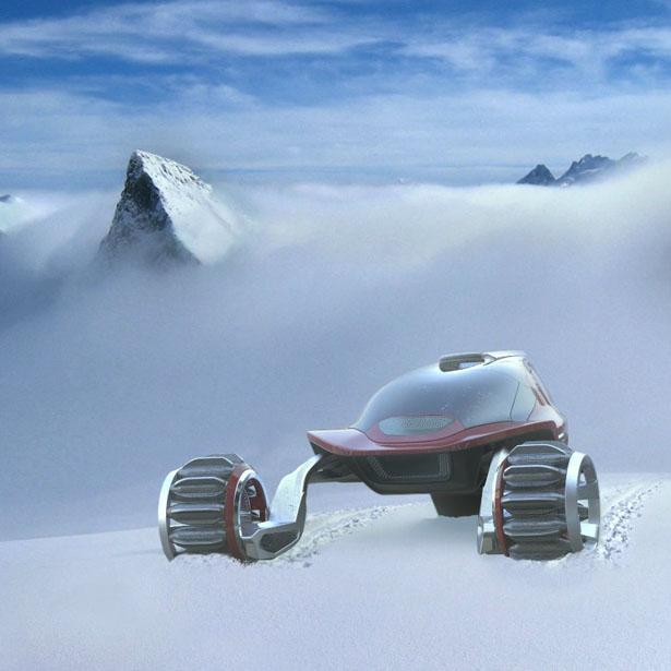 Разработана концепция самого комфортабельного снегохода