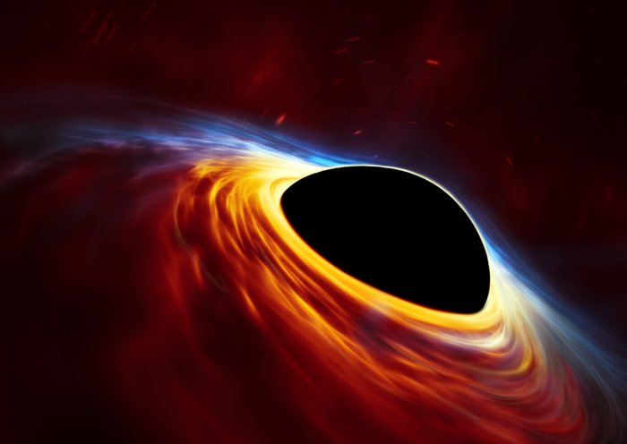 """Ученые запечатлели """"обед"""" керровской черной дыры"""