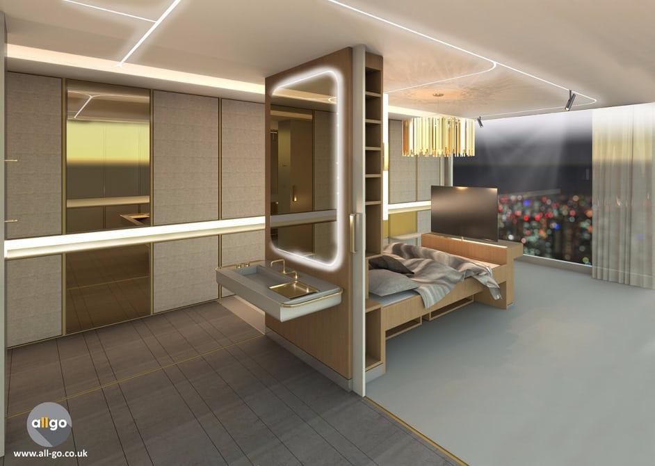 Создан дизайн гостиничной комнаты для людей с ограниченными возможностями