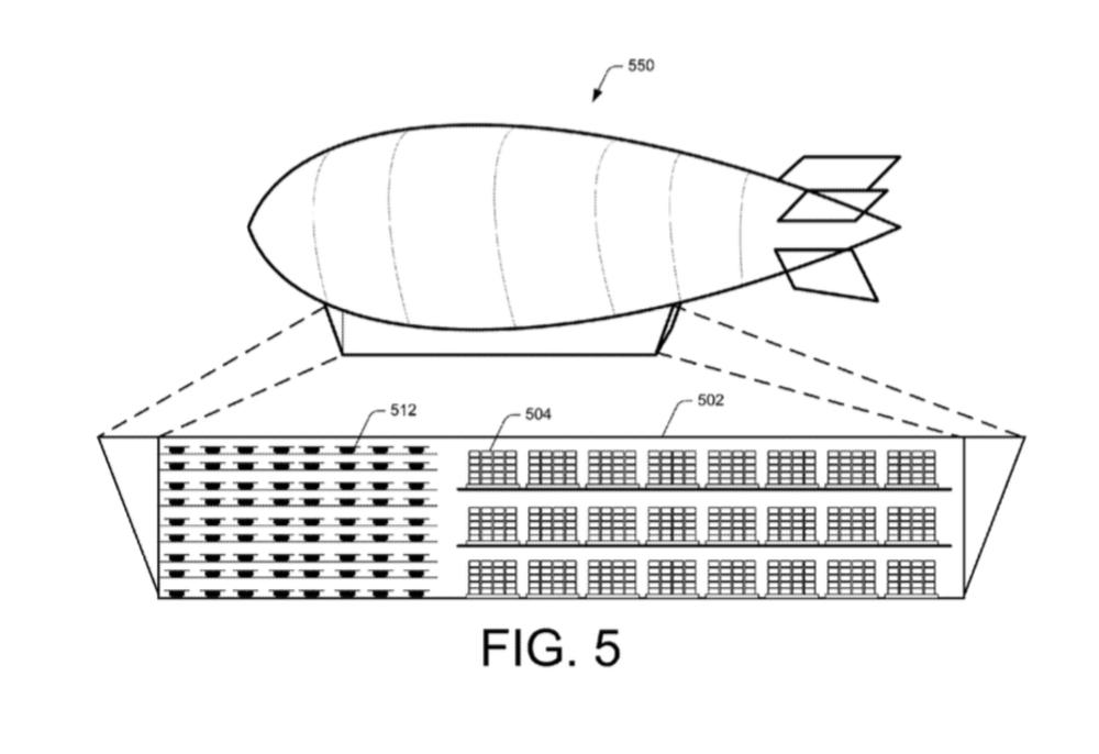 Amazon патентует летающий склад-дирижабль