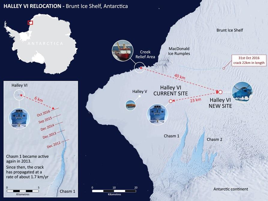 Старая трещина во льдах заставит ученых перевезти Антарктическую станцию
