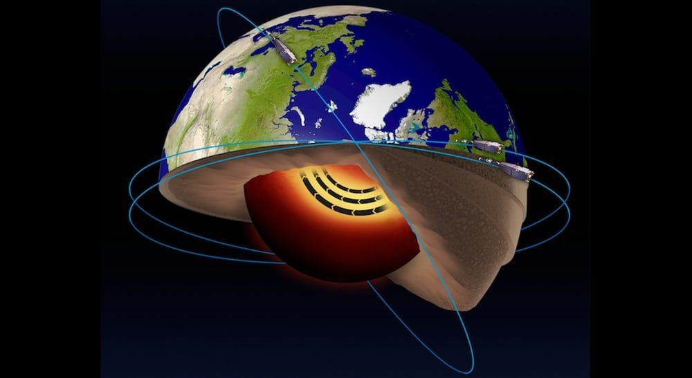 Ученые говорят, что движение расплавленного металла в ядре ускоряется