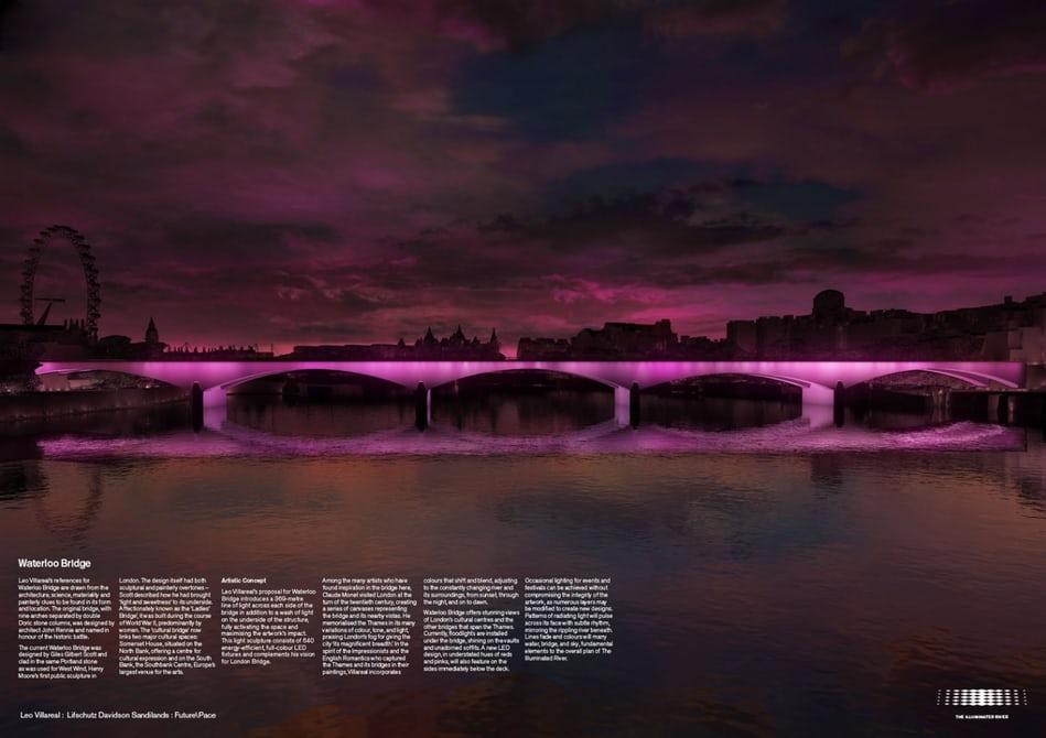 В Лондоне представили проект новой подсветки мостов