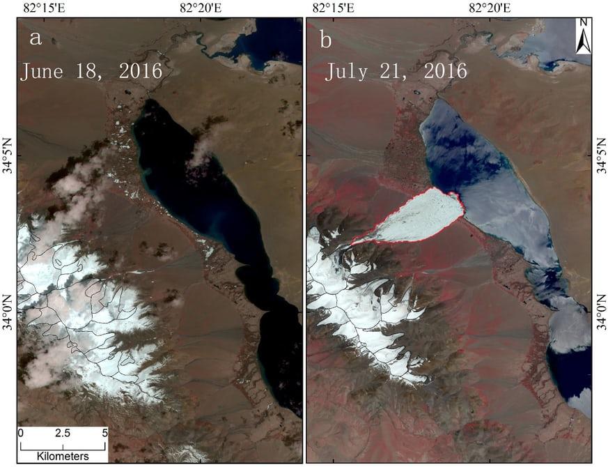 Глобальное потепление вызвало сход ледника в Тибете