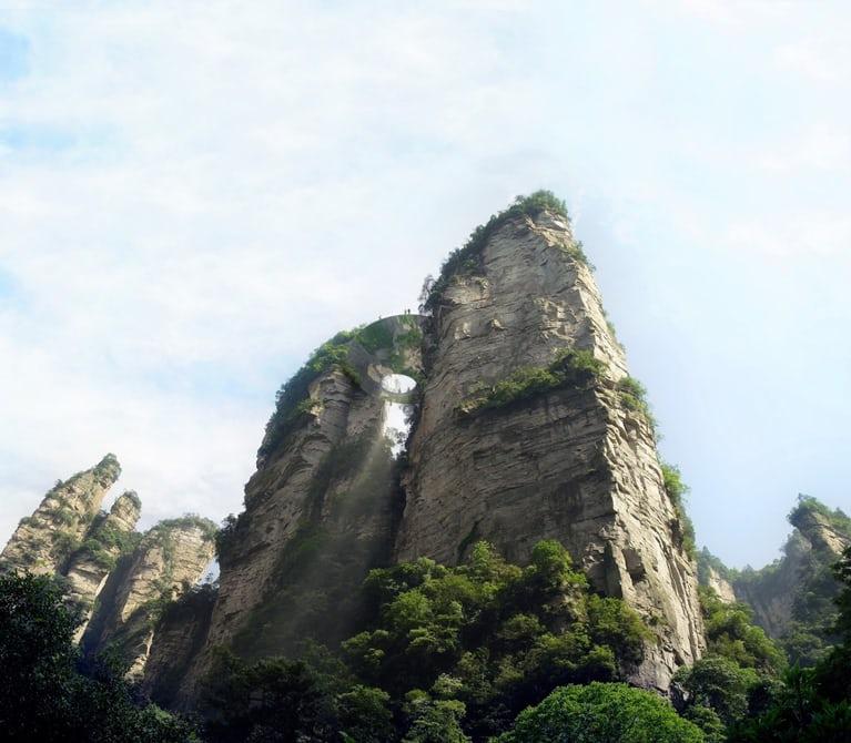 В китайском Национальном парке построят три стеклянных моста