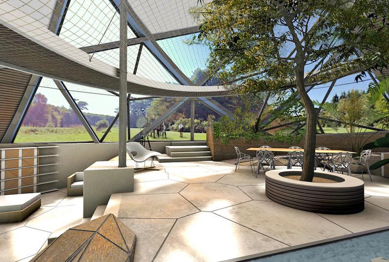 Показана концепция очередного зеленого дома