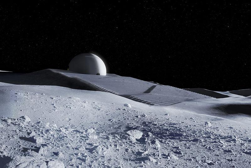 Дизайнер придумал концепцию храма для Луны