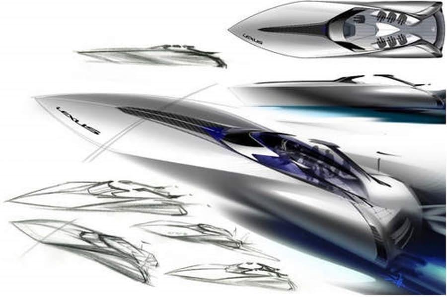 Lexus представил концепт спортивной яхты
