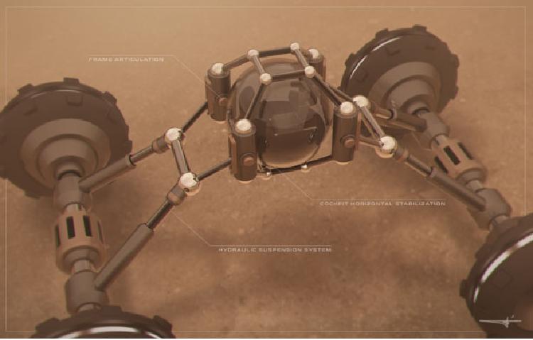 Представлен концепт внедорожного марсохода