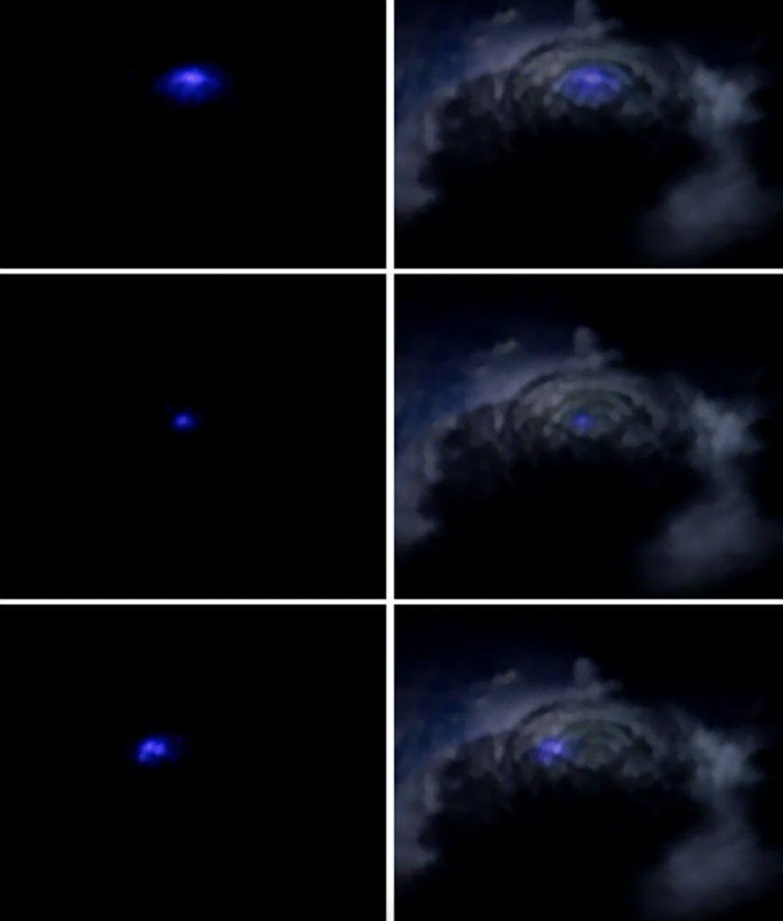 Появилась видеозапись редчайших стратосферных голубых вспышек
