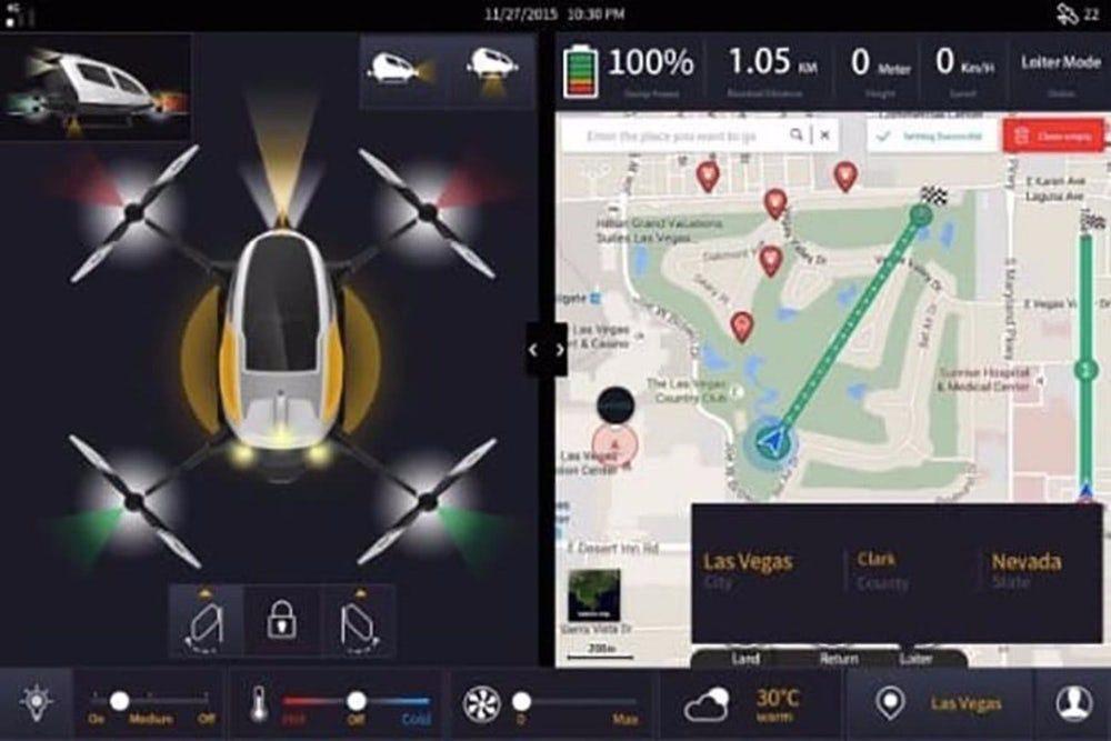 В Дубае будет запущено беспилотное такси-дрон