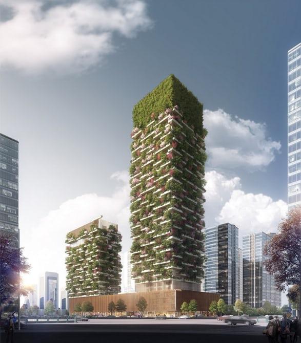 ВКитайской народной республике  построят небоскреб, поглощающий 25 тонн углекислого газа всутки