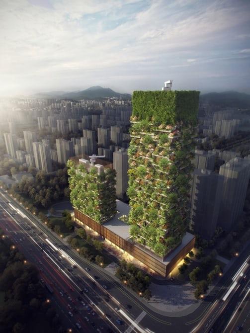 В Китае построят дом-лес поглощающий СО2 тоннами
