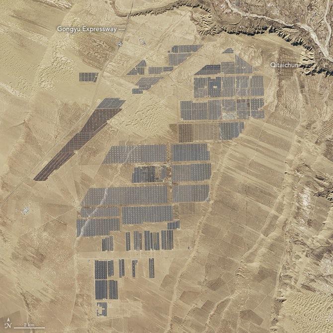 NASA опубликовало фотографии крупнейшей солнечной электростанции