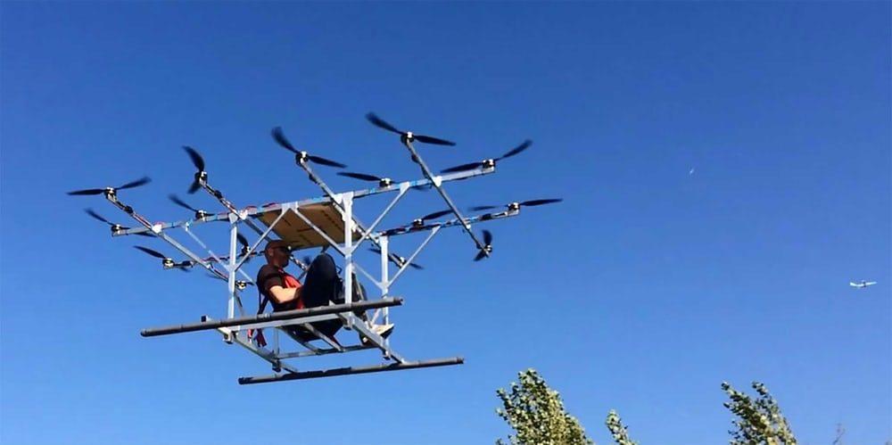 В Нидерландах умельцы собрали в гараже пассажирский мультикоптер
