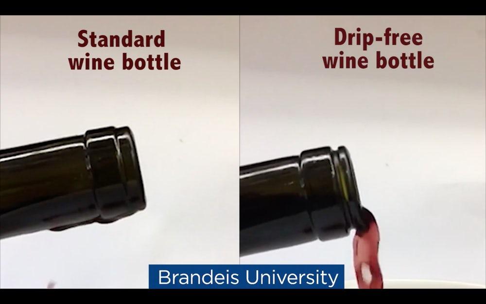 Разработана не оставляющая капель винная бутылка