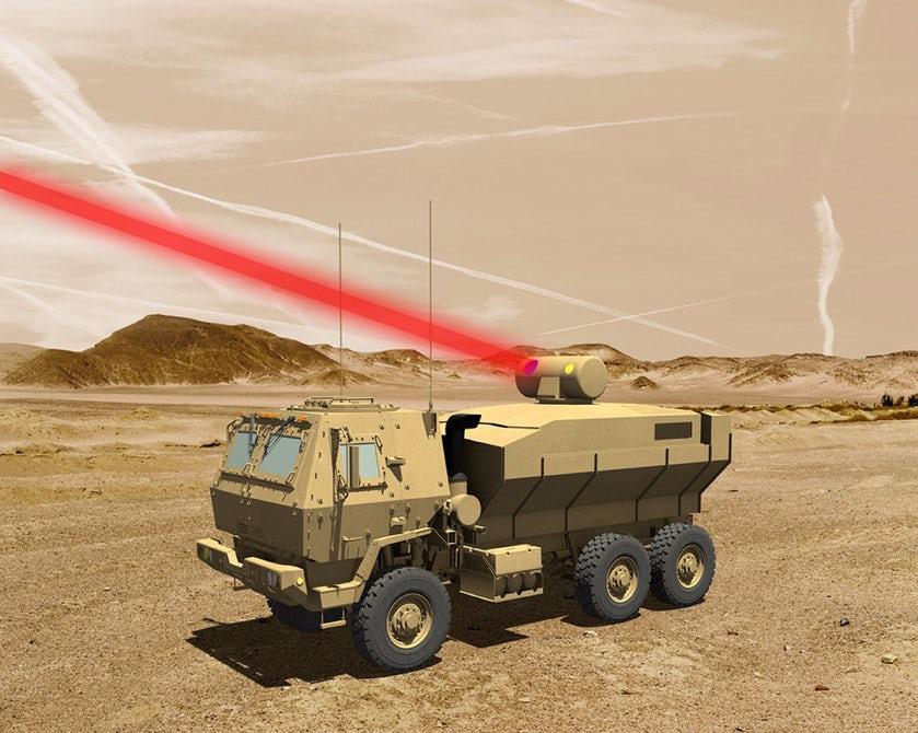 Армия США получила навооружение самый мощнейший лазер вмире