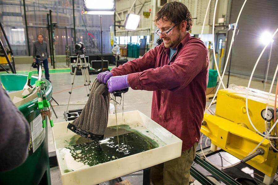 Создана многоразовая губка для сбора нефти