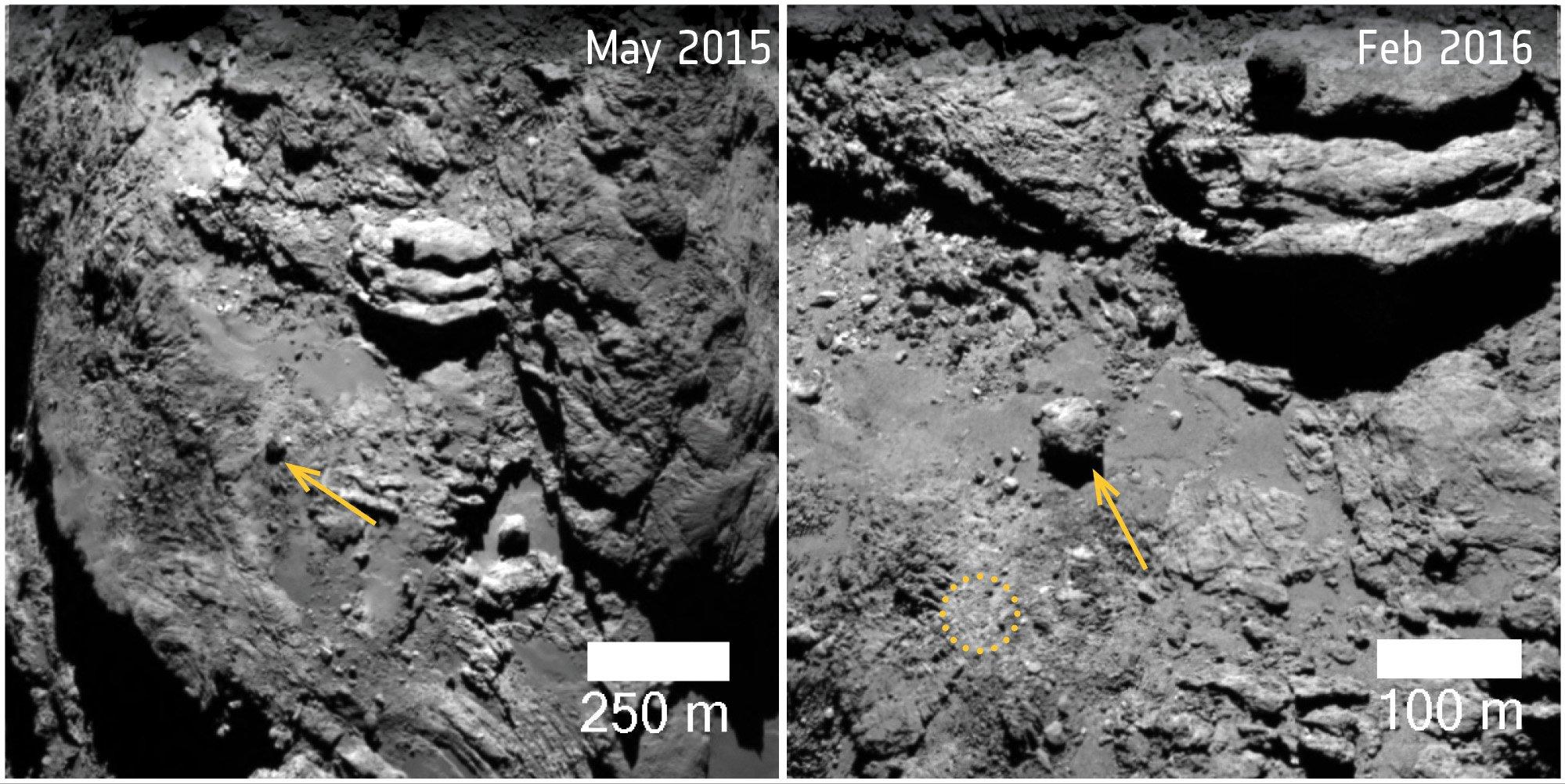 Комета Чурюмова-Герасименко может расколоться на части