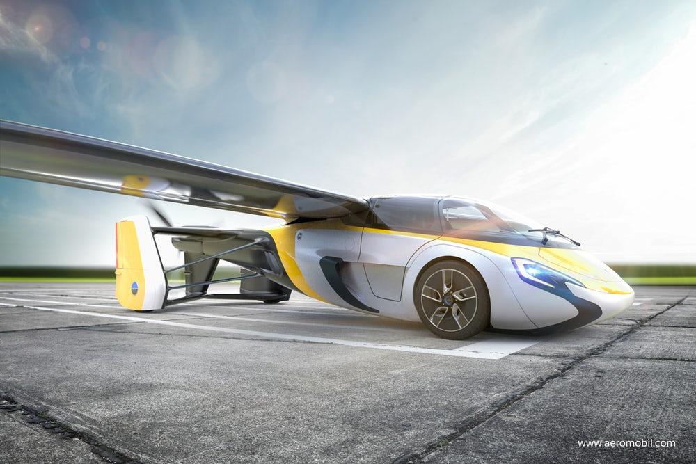 В нынешнем 2017г. будет выпущен 1-ый летающий автомобиль