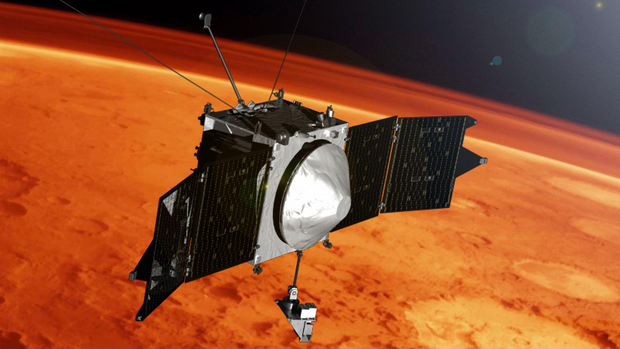 Почти вся атмосфера Марса была утянута в космос