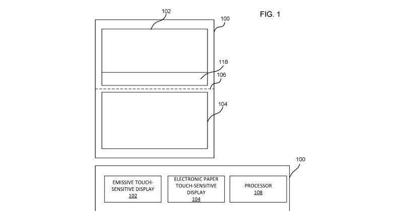 Microsoft запатентовала устройство с 2-мя дисплеями