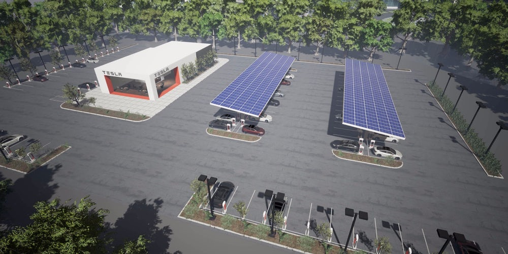 Tesla удвоит число сверхбыстрых зарядных станций вэтом году