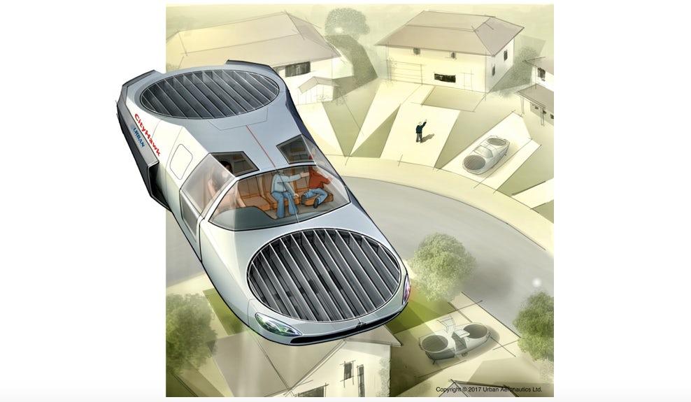 В Северной Каролине разработан гражданский летающий автомобиль