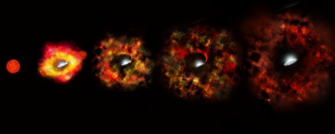 Астрономы наблюдали превращение звезды в черную дыру