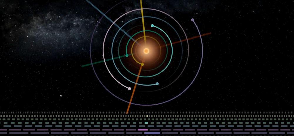 У солнечной системы TRAPPIST появилось свое музыкальное произведение