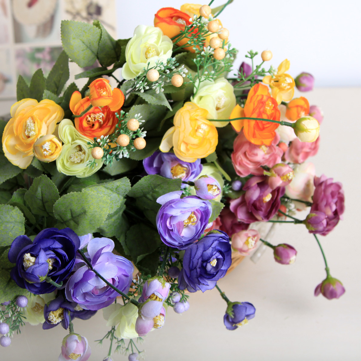 Где можна купить искуственные цветы купить вышивка бисером цветы