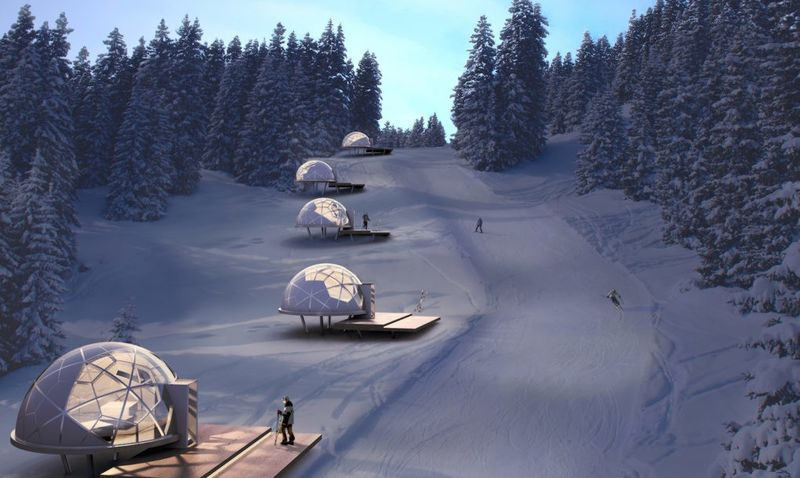 В Словении разработаны переносные дома в форме куполов