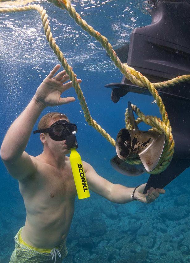 Изобретено простое устройство для подводного плавания