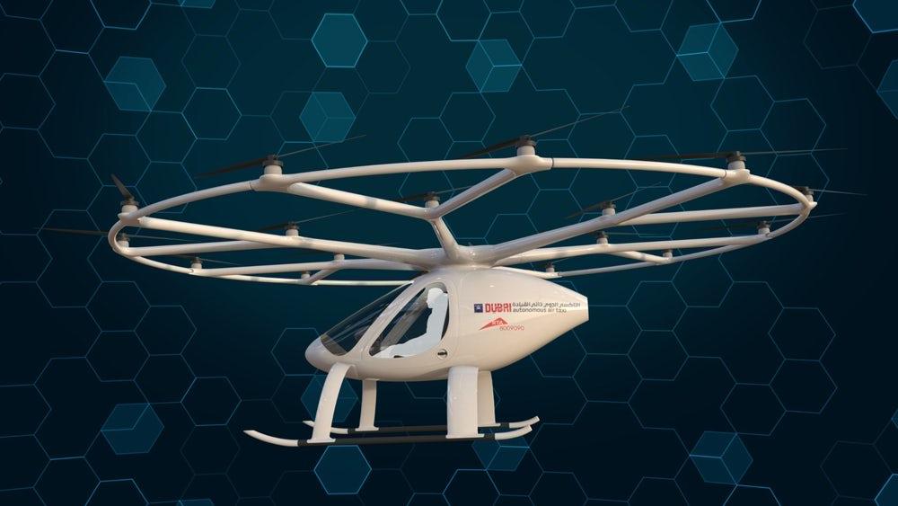 Дубай будет тестировать автономное летающее такси