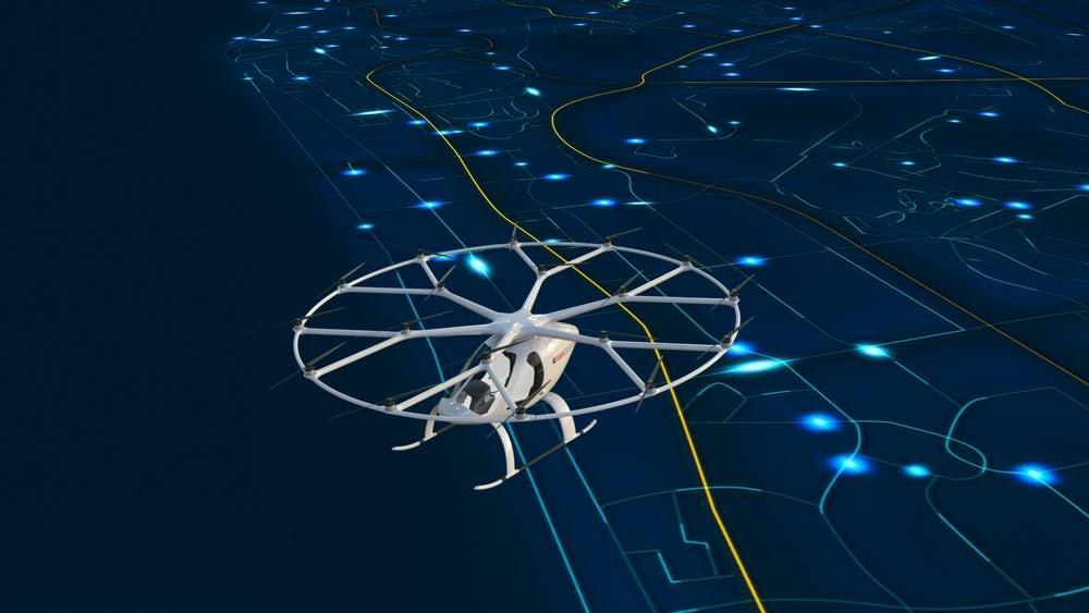 ВДубае электрический дрон будет беспилотным такси